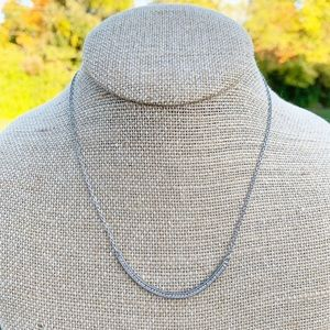 Chloe + Isabel Pavé Curved Bar Silver Necklace